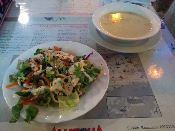 アンカラ 渋谷 サラダとスープ