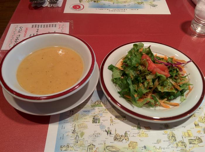 チャンカヤ 新宿 スープとサラダ