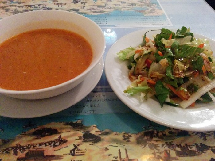 トルコアズ池袋  サラダ、スープ