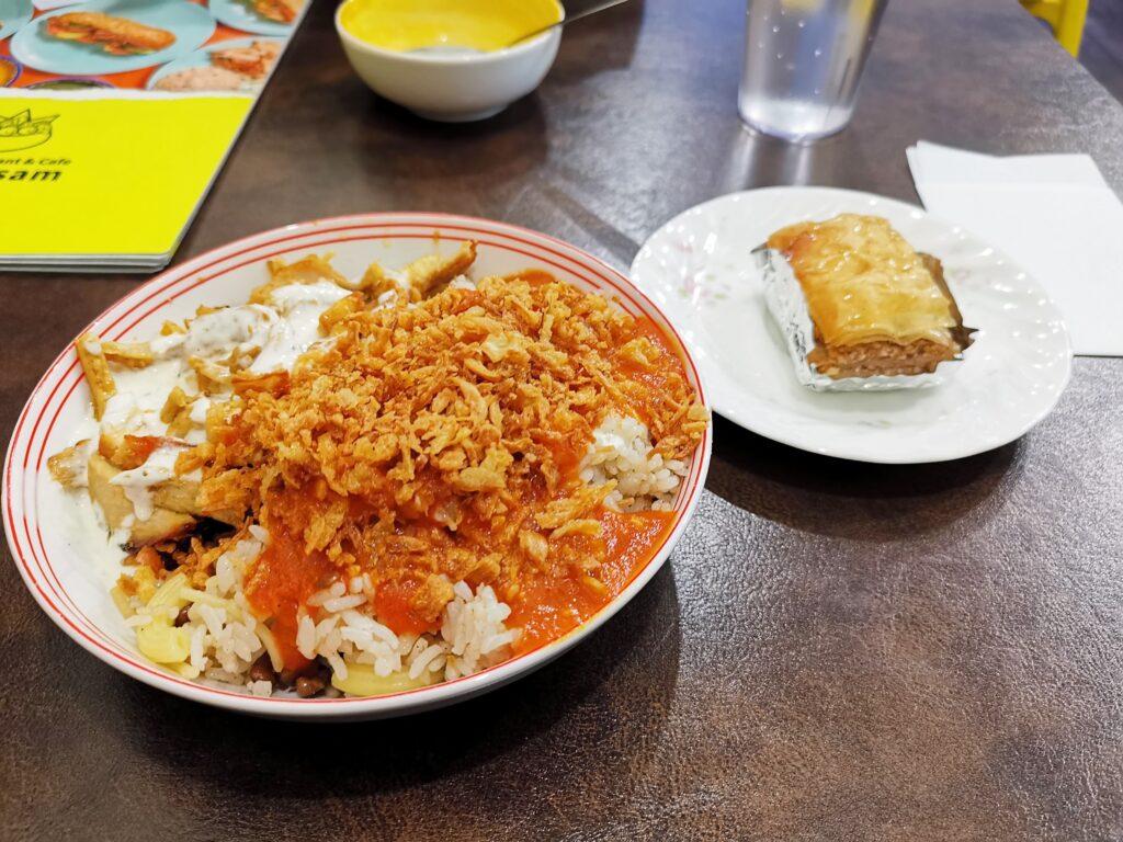 神楽坂 アラビックカフェ & デリ アブイサームのコシャリの写真